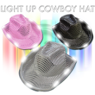 Flashing cowboy hat led with sequins