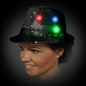 AG13 Sequin Fedoras with 6 RGB LEDs