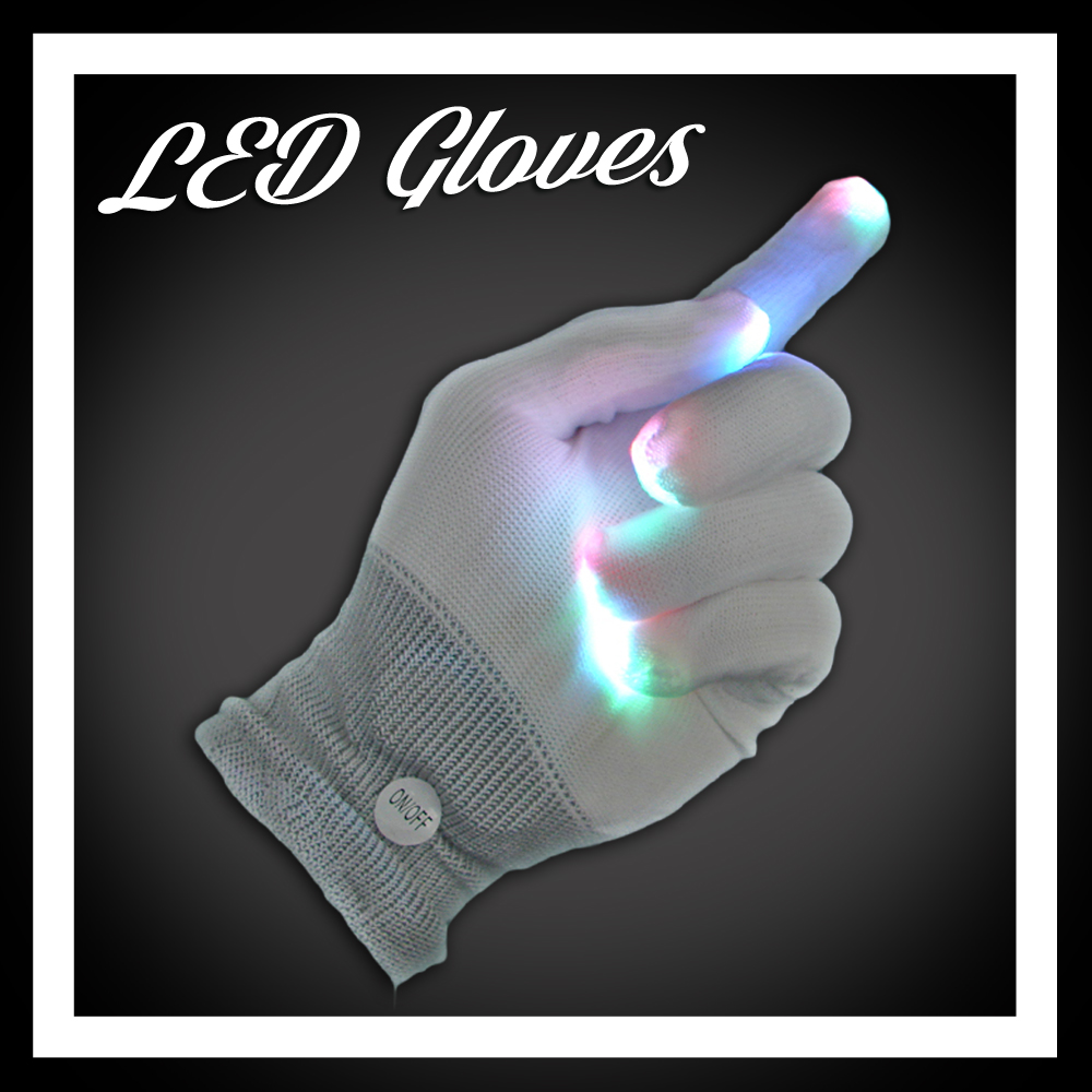 EDM Rave LED Light Up Gloves