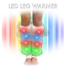 LED flashing leg warmers