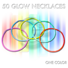 Tube of 50 Solid Color Glow Necklaces