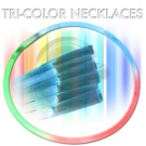 Tube of 50 Tri-color Chemical Glow Necklaces