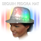 Flashing hat led fedora sequins