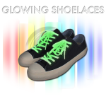 Shoelaces that glow in the dark for up to 14 hours.