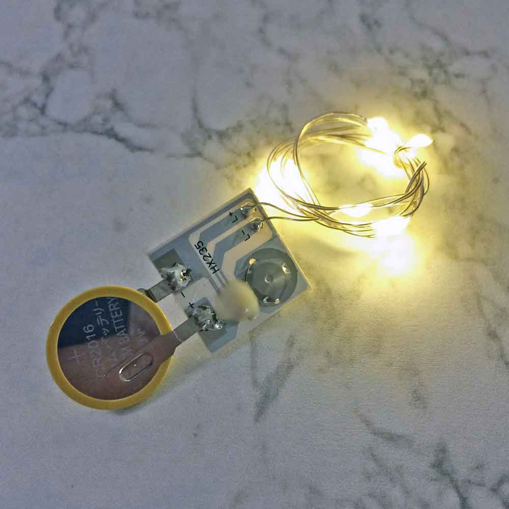 20 Inch Fairy Wire, 10 LEDs, Coin Cell Battery Pack, Color Options Available String Light with Timer, Copper wire string light, dew drop LEDs, Silver Wire string lights, gold wire string lights, craft, tiny lights, leds, small leds, craft, decorations, decor, centerpiece, wedding, party, bar mitzvah, bat mitzvah, hair piece, headband, crown, halo, tiara, Christmas