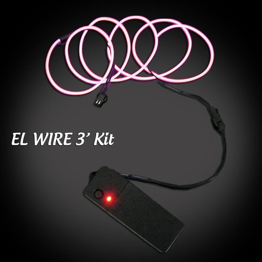 Extreme Glow 3 Foot El Wire Kit