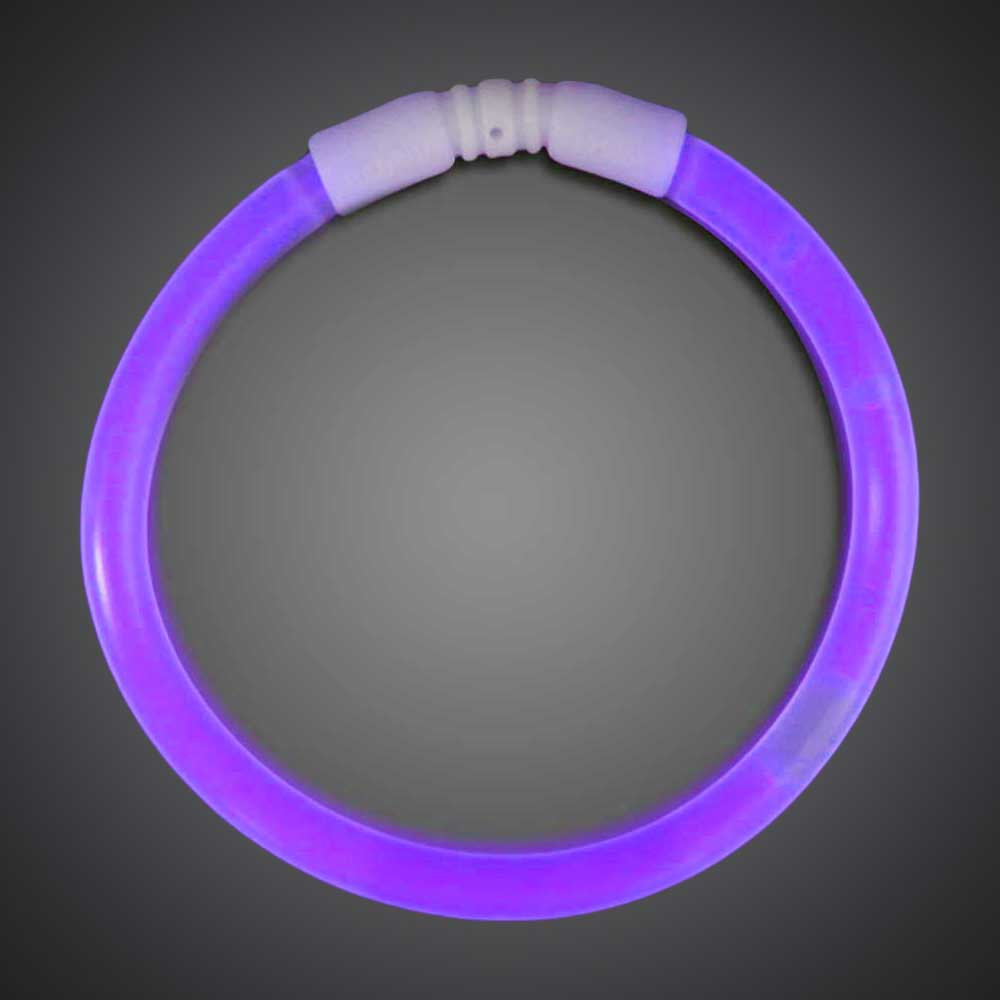 50 Purple Solid Color 6mm Bracelets birthday, party, wedding, cheap, inexpensive, give away, customize, purple glow bracelets, chemical glow bracelets, assorted solid color glow bracelets, assorted one-color glow bracelets, assorted wholesale glow bracelets