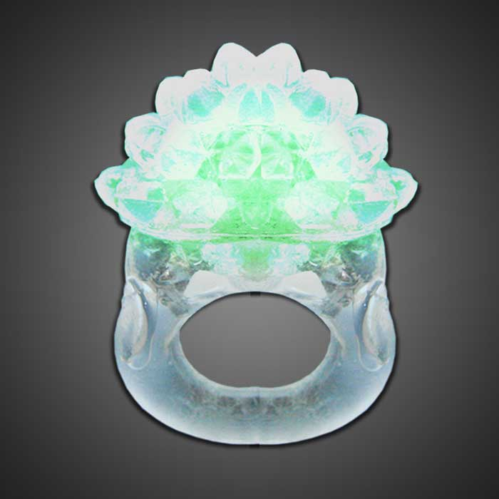 Extreme Glow Clear Led Bubble Ring