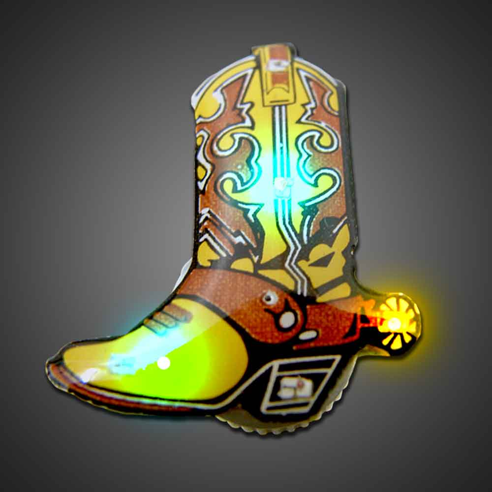 Cowboy Boot Body Lights  body lights, blinkies, blinky, magnetic body light