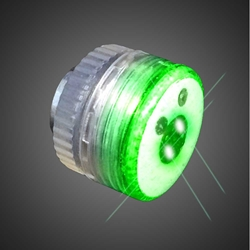 Green LED Button Body Lights round led lights, magnetic, green body light, button LED light, flashing body light, flashing button light, flashing blinky, flashing LED light, burning man, bike light, costume light, small led, craft, decorative light, decoration, centerpiece, balloons, baloon, ballon