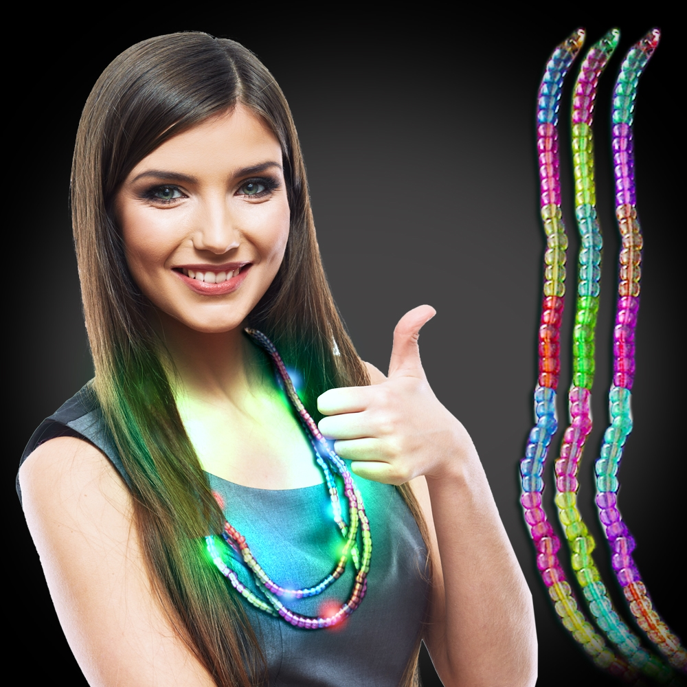 Battery Operated Light Up Multi Beaded Necklace