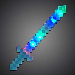 Pixel Sword LED Sword, Flashing Sword, Light Up Sword, Lighted Sword,  flashing sword, boy party, birthday, vending, minecraft
