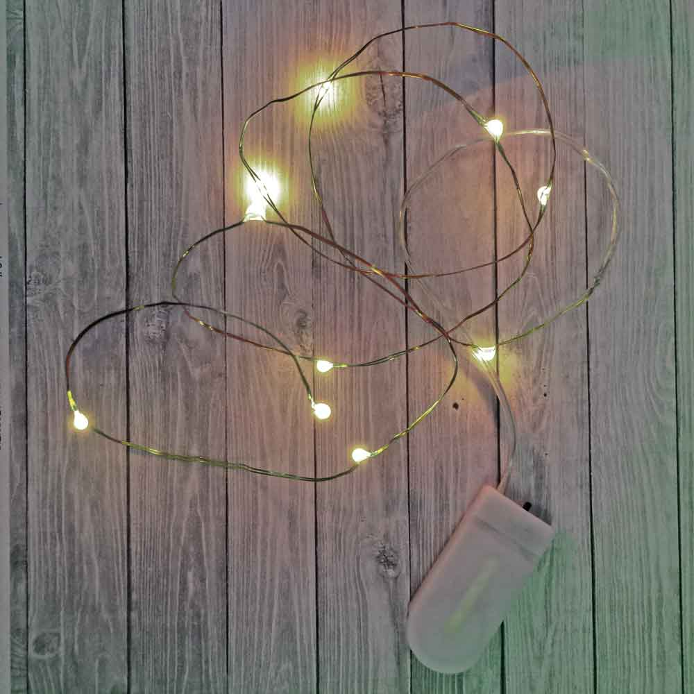 Short Wire: 20 inch Fairy Wire, 10 LEDs Coin Cell Batteries Firefly Mason Jar, String Light with Timer, Copper wire string light, dew drop LEDs, Silver Wire string lights, gold wire string lights, wedding, centerpiece, center piece, decoration, decor, christmas, tree, wreath, flower, costume