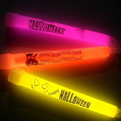 "6-inch Halloween Glow Sticks (Pack of 10) glowstick, glowsticks, glow stick, glow sticks, lightsticks, light sticks, lightstick, light stick, 6-inch glowstick, 6"" glowstick, halloween, trick or treat, pumpkin, boo, bat, cat, haloween"