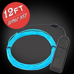 13 Foot EL Wire Kit cosplay, electroluminescent wire, cool neon, fluorescent wire, el wire, craft, costume, burning man, art