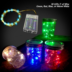 18 Colorful LEDs on Copper Wire