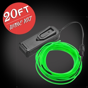 20-foot EL Wire Kit electroluminescent wire, cool neon, fluorescent wire, el wire, craft, costume, burning man, art, cosplay