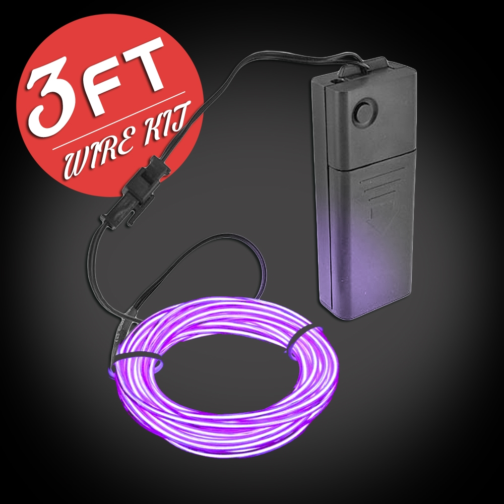Extreme Glow 3-foot EL Wire Kit
