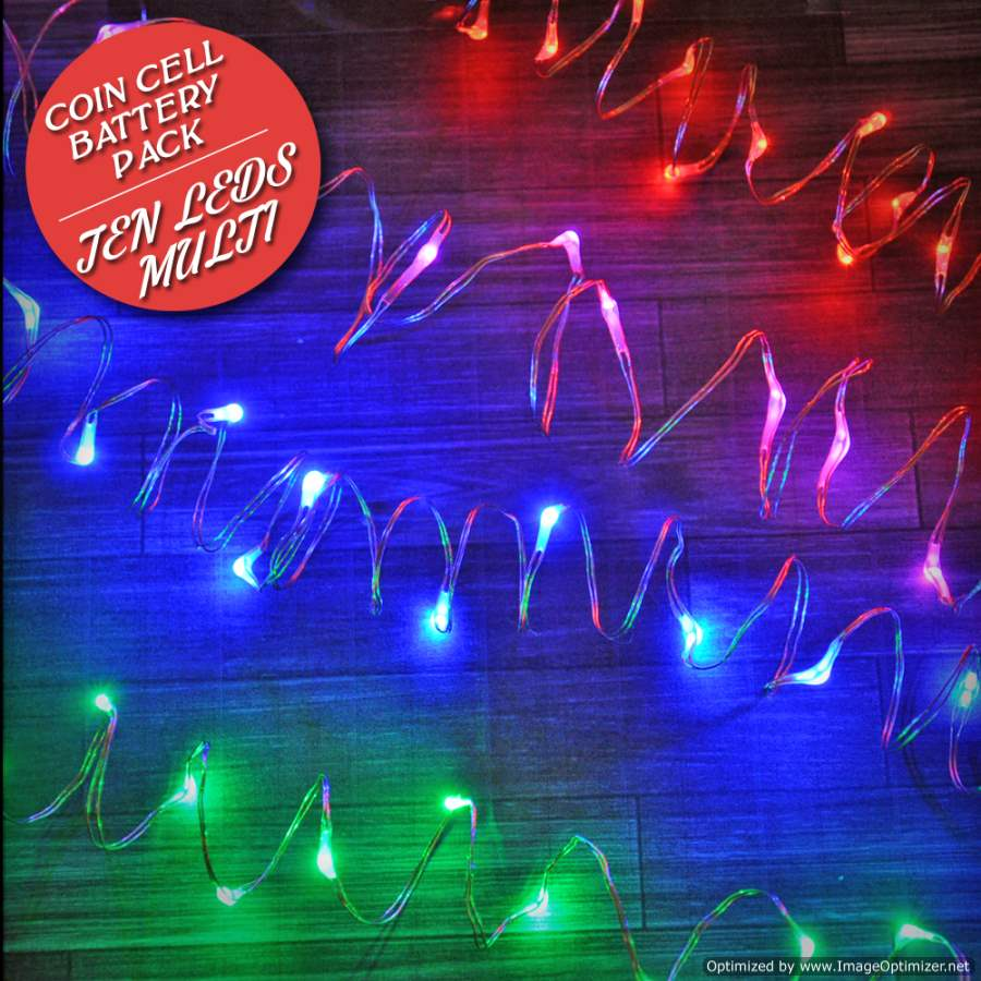 10 Colorful Fairy Lights, 20 Inch Wire - FW10L20