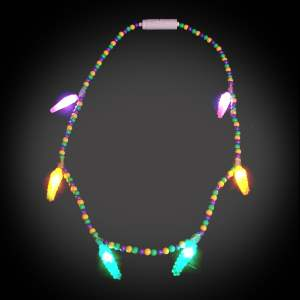Voodoo Mardi Gras Necklace throw, party, kids, lighted bead strand, flashing beads, Light Up Beaded Necklace, lighted bead*, Beaded Necklace, Mardi Gras Necklace, Light Up Mardi Gras Necklace, lighted necklace, flashing necklace, party necklace, light-up necklace