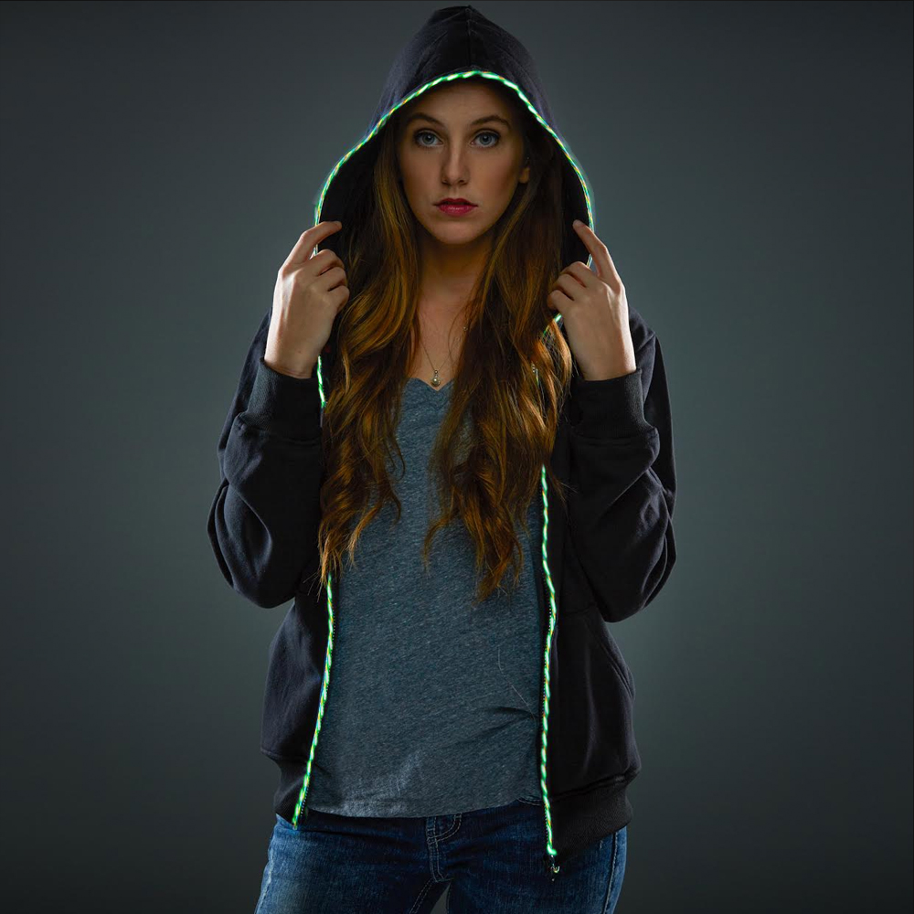 Multicolored Flow Electroluminescent Hoodie - ELHOODIE
