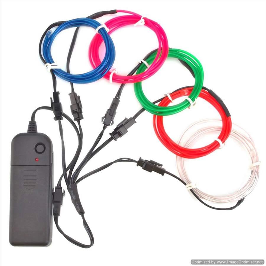 Extreme Glow 20-foot Pick Six EL Wire Kit