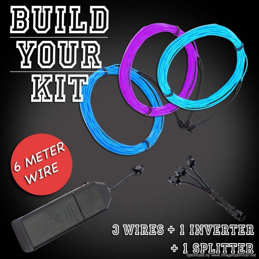 Extreme Glow 60-foot Triple Play EL Wire Kit