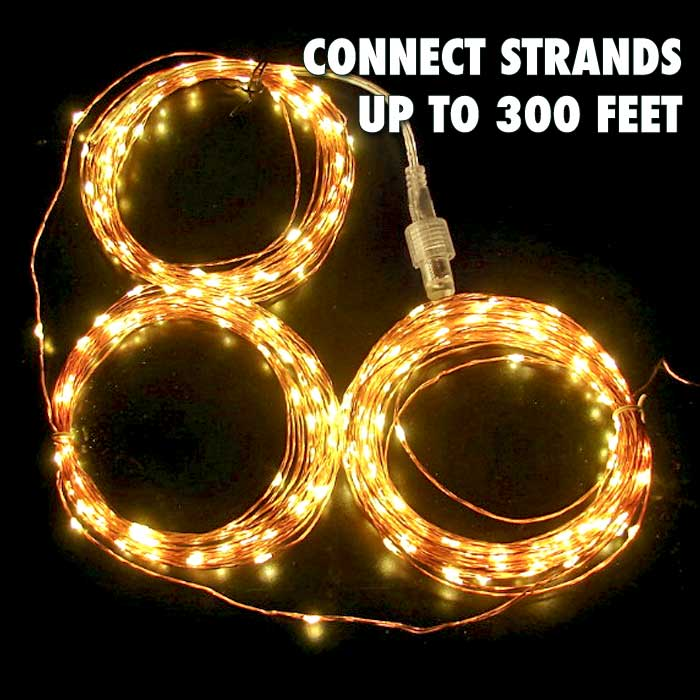 300 600 or 900 warm white fairy lights on 100 ft 200 ft or 300 ft copper or silver wire. Black Bedroom Furniture Sets. Home Design Ideas