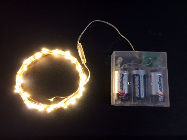 100 Warm White Fairy Lights, 16.5 Ft Wire, C Battery Pack String Light with Timer, Copper wire string light, dew drop LEDs, Silver Wire string lights, gold wire string lights, Christmas