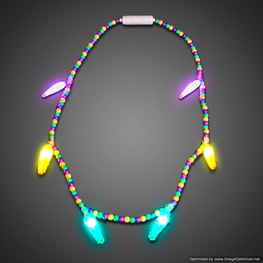Led Mardi Gras String Lights : Battery-operated Light Up Mardi Gras Voodoo Necklace