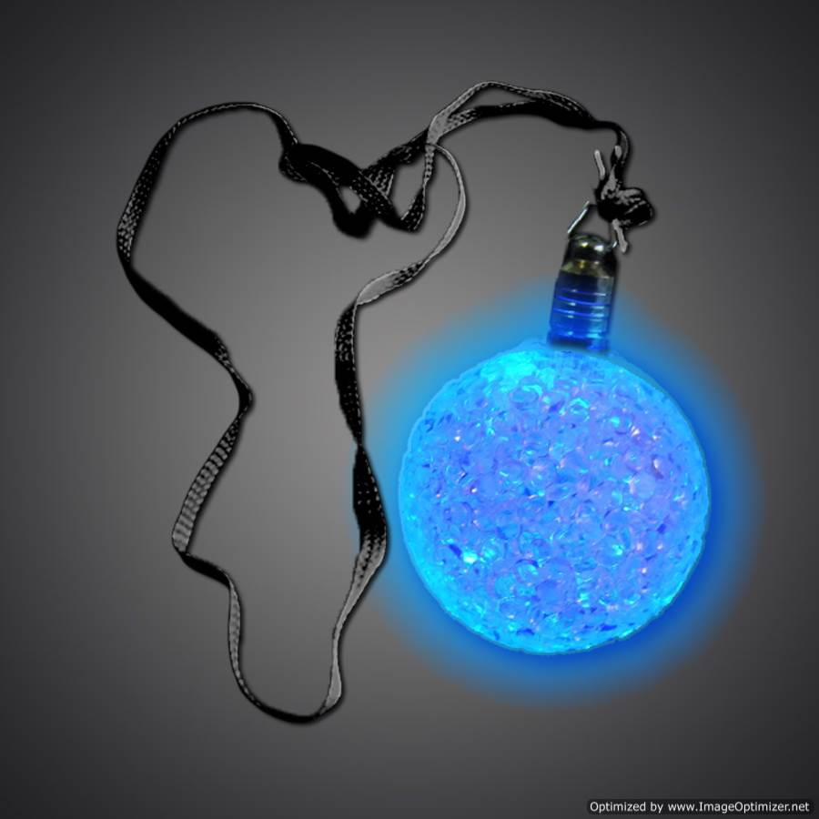 Extreme Glow Flashing Crystal Ball Necklace