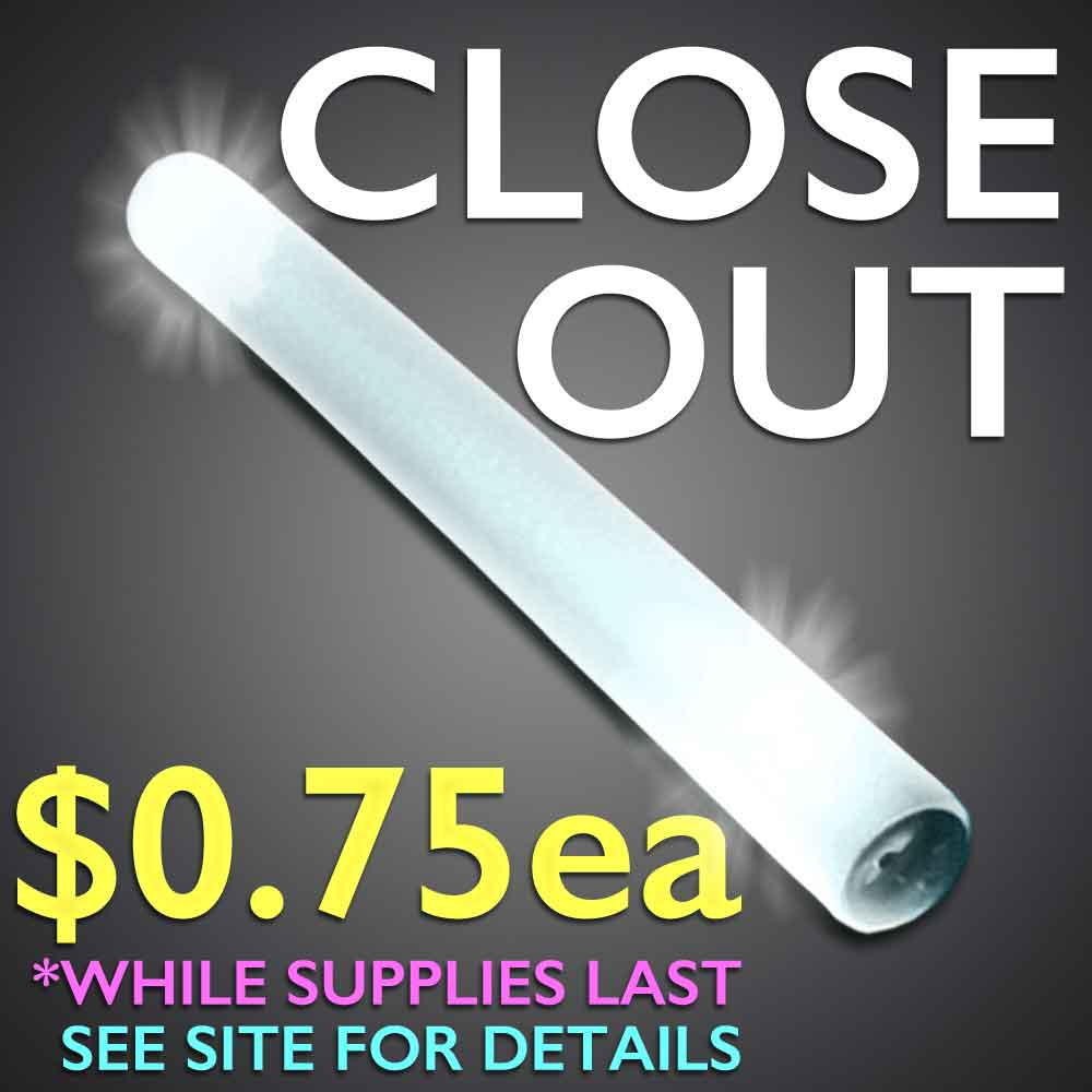 Discount Close-Out Foam Sticks foam stick, LED foam stick, noodle, tubes, baton*, *baton, tube lights, light up tubes, flashing foam stick, lighted foam stick, light-up foam stick, glowing foam stick, glow foam stick, discount foam stick, wholesale foam stick, foam wand, bar, festival, rave, music, edm, edc, cheer, dance, groups, light stick