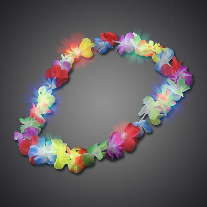 Flashing Hawaiian Lei Hawaiian Lei, Flashing Lei, Lighted Lei, light-up lei, lighted necklace, flashing necklace, party necklace, light-up necklace, hawaii, luau, summer, july 4th, party, mitzvah, wedding