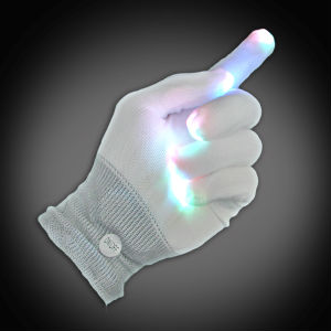 MitMulti Lighted Glove Lighted Gloves, LED Gloves, Flashing Gloves, Lighted Mitts, LED Mitts, Flashing Mitts, Light Up Gloves, Rave Gloves