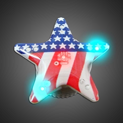 USA Flag Star Body Lights  body lights, blinkies, blinky, magnetic body light
