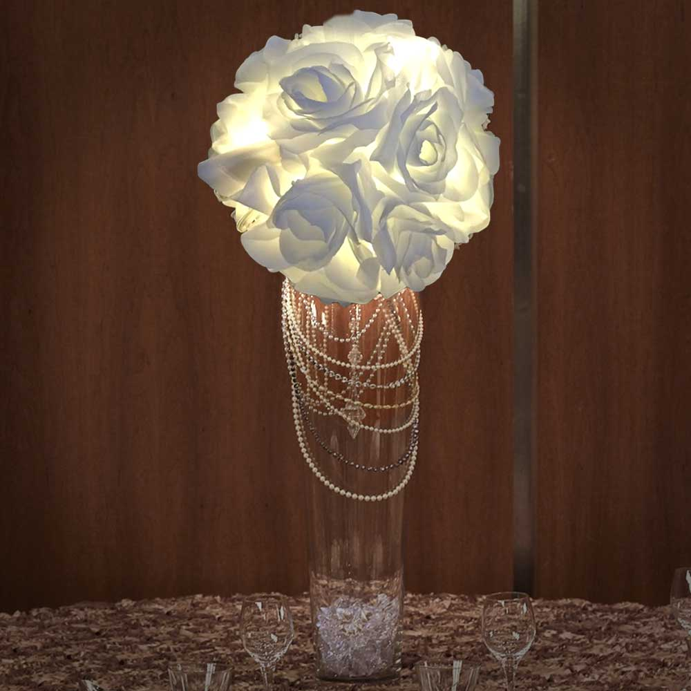 Light up led floral centerpiece quot