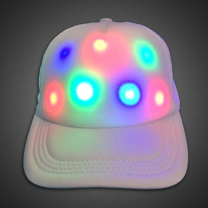 cap lighted trucker baseball hat clip lights with built in headphones caps