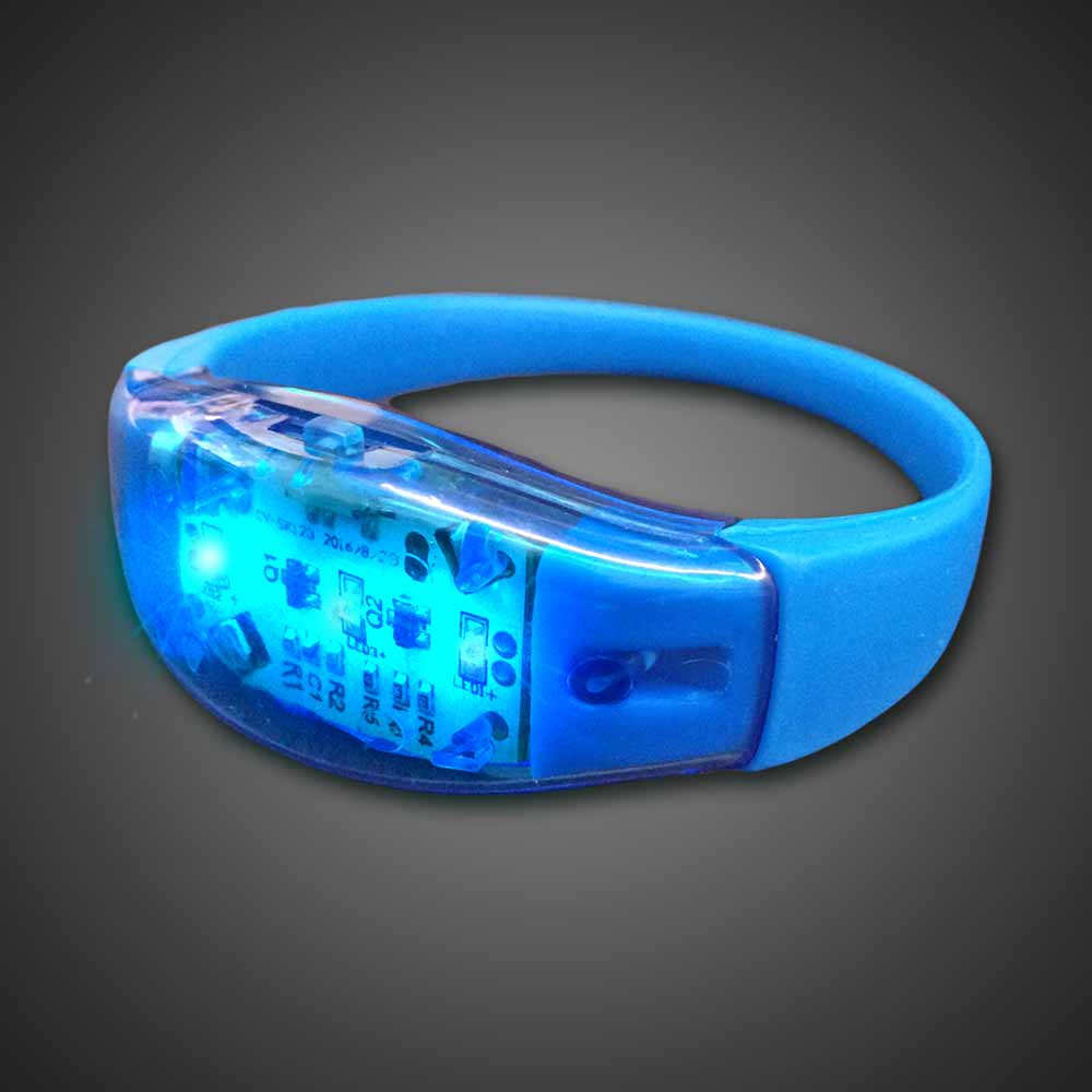 Sound Activated LED Silicone Bracelet Sound activated LED Bracelet, Lighted Bracelet, Light Up Bracelet, sound activated bracelet, Flashing Bracelet, concert, club promotion, glow night, glow run,rave, EDM, festival, school, pep rally