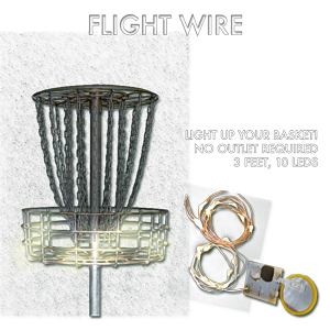 10 White LEDs on Bendable Copper Wire