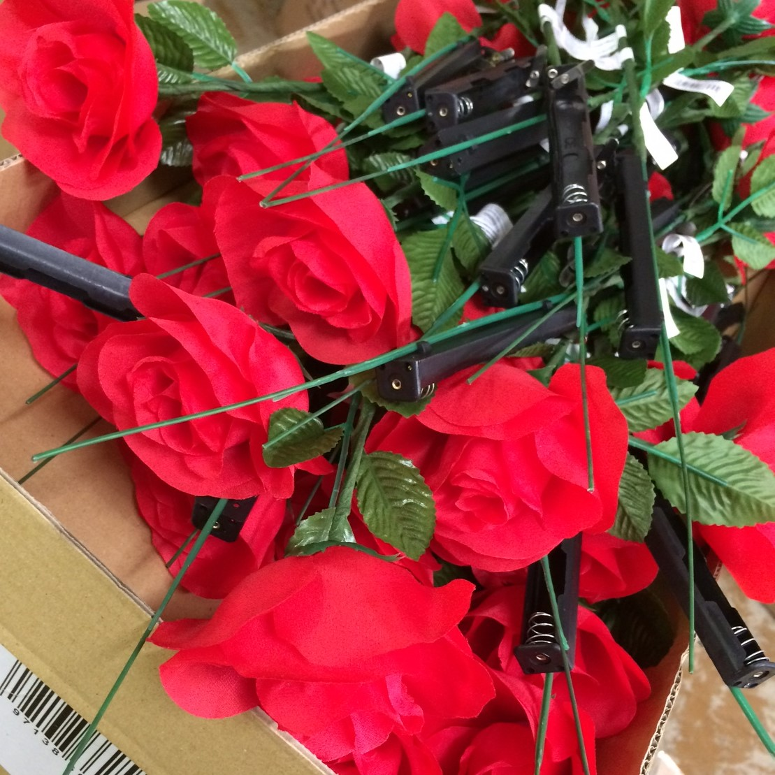 Bright Light Up Led Red Rose Great For Valentines Day