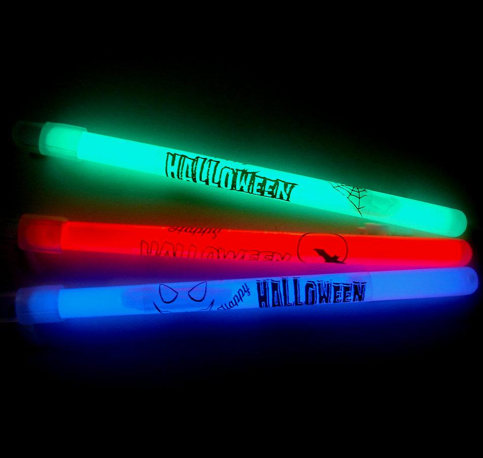 6 inch slim halloween glow sticks pack of 50 6slimhall - Glow Sticks For Halloween