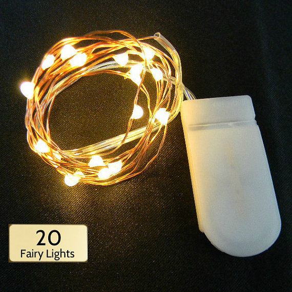 20 Warm White LEDs; Silver or Copper Wire