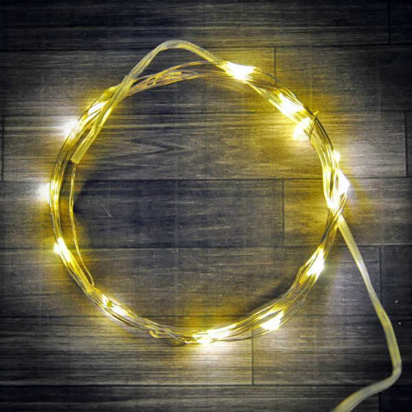 36 Warm White Fairy Lights, 6-Ft Wire String Light with Timer, Copper, Silver, Gold, or Green wire string light, dew drop LEDs, Silver Wire string lights, gold wire string lights, Christmas