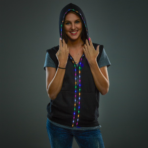 LED Hoodie without Sleeves