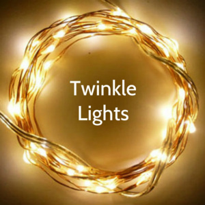 16-Foot Twinkle Fairy Wire - 50 Warm White LEDs