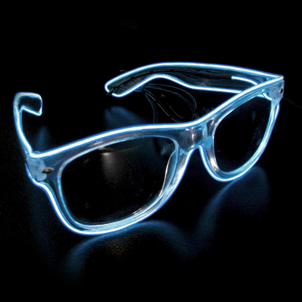 Extreme Glow EL Wire Lighted Sunglasses with Clear Frames
