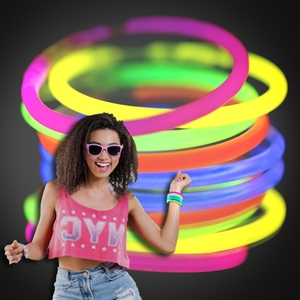 Assorted 6mm Glow Bracelets