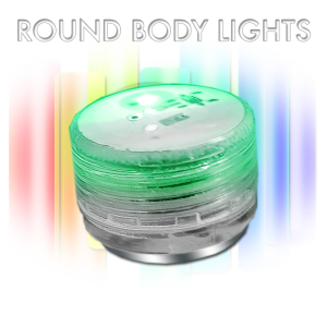 Magnetic flashing round body lights