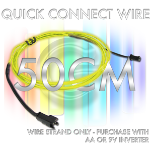 Quick-Connect 0.5-Meter EL Wire Segment