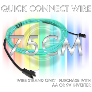 Quick-Connect 0.75-Meter EL Wire Segment